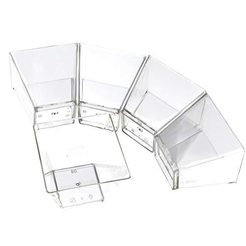 (50tlg Mini 2oz Cube Kunststoff Dessert Schale Square 5 * 5 * 4.5 60 ml Nachtisch Cup)