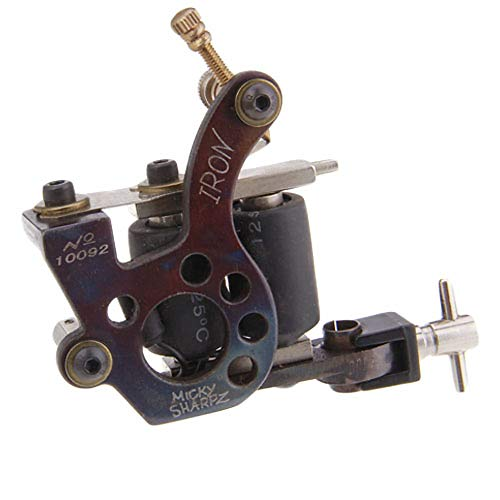 Handmade Tattoo Gun (Good And Good-Top Cast Iron Handmade Tattoo Machine Gun Coil Liner und Shader)