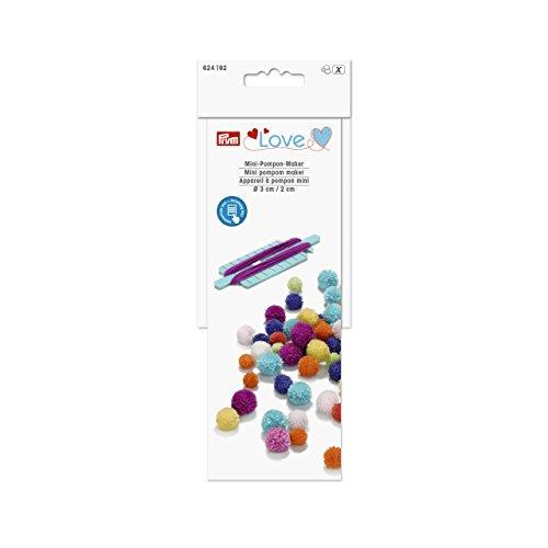 Prym Love Mini Pompon Maker, weiß, 5X 5X 3cm
