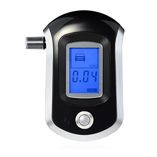 [Neue Version] VicTsing Alkoholtester, Professionelle Atemalkohol-Tester Halbleiter Sensor Alkoholmessgeräte mit LCD Display & 20 Mundstücke