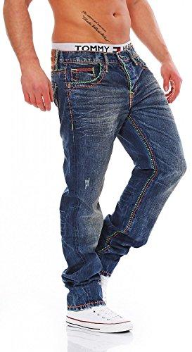 CIPO & BAXX - C-1036 - Regular Fit - dicke Naht - Men / Herren Jeans Hose Blau