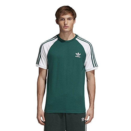 Adidas 3-stripes, t-shirt uomo, cgreen, xl