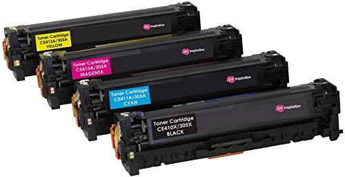 4er Set INK INSPIRATION® Premium Toner für HP Laserjet Pro 300 M351a MFP M375nw Pro 400 M451dn M451dw M451nw MFP M475dn M475dw | kompatibel zu HP CE410X 4.000 Seiten CE411A CE412A CE413A 2.600 Seiten (Drucker Mit Hp Toner-kassette)