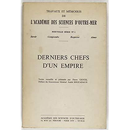 Derniers chefs d'un empire