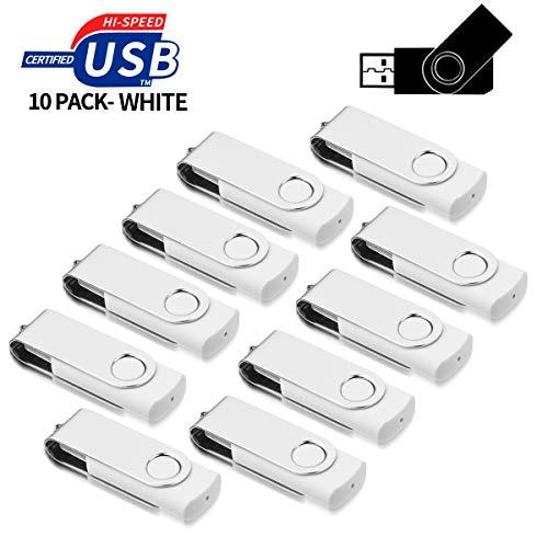 10 Stück 16GB USB-Stick,AreTop USB Stick Speicherstick USB 2.0 Flash Drive,Weiß