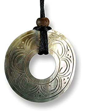 ISLAND PIERCINGS Halskette mit Perlmutt Muschel Anhänger längenverstellbar Maori Design N171
