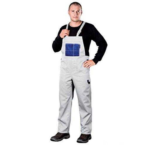 Preisvergleich Produktbild Arbeitslatzhose Latzhosen Latzhose Arbeitshose multifunktion Hose Arbeitskleidung versch. Farben Gr. 46-62 (54, weiß)