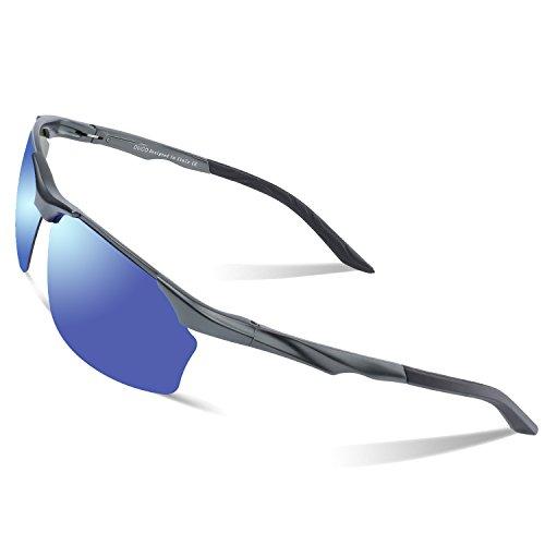 006311dca3 Duco Polarized Sunglasses For Cycling Fishing Golf Unbreakable Men s Shades  8513S (Gunmetal Frame Revo Blue Lens) - Buy Online in Oman.