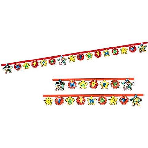 Disney Mickey Mouse - Cadena de Felicitación de la Fiesta de Cumpleaños de la Bandera de Mickey Mouse 2,10
