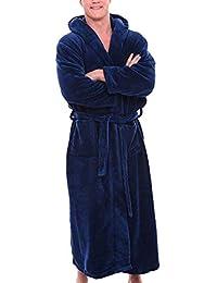 POLP Albornoz Hombre Unisex Casa Albornoz Hombre Ducha Bata de Baño Ropa de baño Pijamas de una Pieza Batas Albornoz para Hombre Súper…