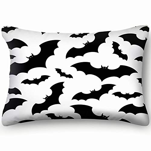 dfgi Bats Animals Wildlife bat Animals Wildlife bat Skin Cool Super Soft and Luxury Pillow Cases Covers Sofa Bed Throw Pillow Cover with Envelope Closure 20 * 30 inch