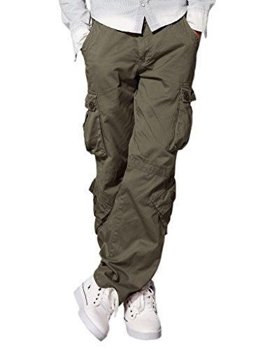 match-mens-retro-casual-cargo-trousers-3357r-green36