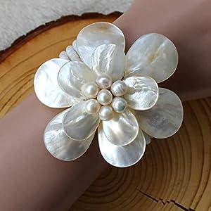 Süßwasserperle - Muschel-Armbänder, Hochzeitsgeschenke, Geschenk der Mutter Tages