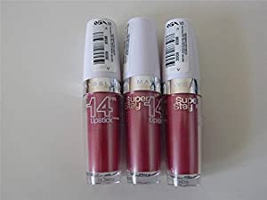 3 x Maybelline New York Superstay 14hr Lipstick 180 Ultimate Blush New