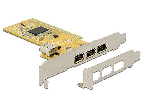 DeLock 89443 PCI Karte mit 3 x externes/1 x internes FireWire A weiß