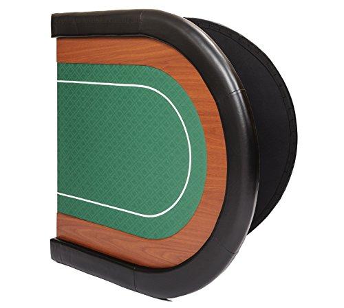 Riverboat Gaming Champion faltbare Pokerauflage mit grünem wasserabweisenden Stoff und Tasche - Pokertisch 180cm - 6