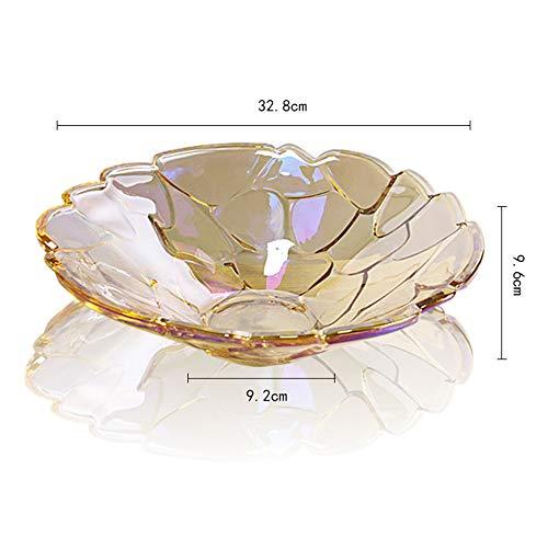 ALILEO Europäische Mode Stein Kristall Glas Obstteller Große Kreative Heimat Wohnzimmer Obstschale Obst Eimer Platte, D