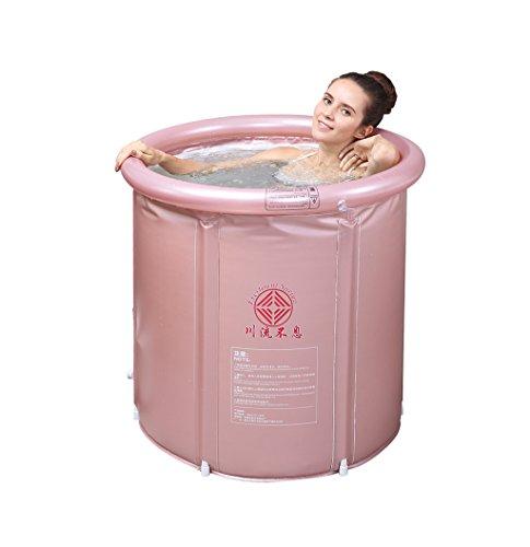 CZWYF Bañera Hinchable Bañera Barril Plegable Grueso Aislamiento Bañera Barriles Hogar Adultos Hogar...