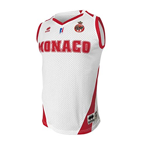 AS Monaco Basketball-Trikot offiziell 2019-2020 Basketball Kinder XS weiß