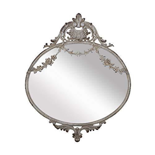NIKKY HOME 26,2 cm Vintage Metall Wandspiegel Hängenden Spiegel Alten Stil für Haus Raumdekoration