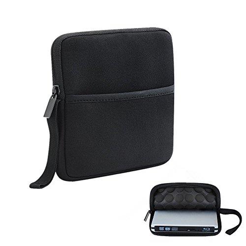 TopElek Funda protectora y bolsa de neopreno para reproductor/grabador externo CD/DVD/Blu-Ray Case...