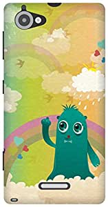 The Racoon Grip In the Clouds hard plastic printed back case/cover for Sony Xperia L