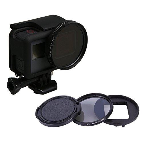 Meijunter 52mm CPL Filter für GoPro Hero 6/Hero 5 Black Kamera, Circular Polfilter Objektiv CPL mit Objektivdeckel Schutz Hülle Zubehör