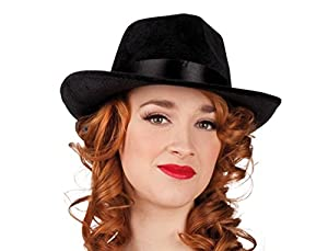ADULTS Adult black gangster hat (gorro/sombrero)