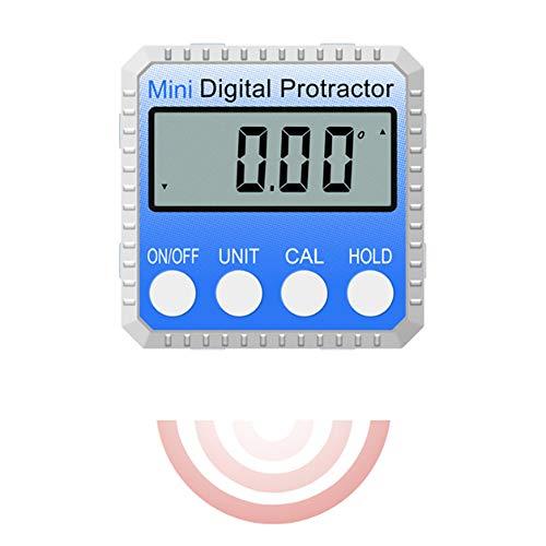 ZUZU 360 Gradi Mini Digitale Inclinometro Livello Goniometro Elettronico Angolo Righello Misuratore Gauge Meter Finder con Magnete
