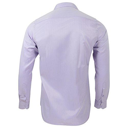 Captain Slim Fit Herren Hemden (in 24 Verschiedenen Farben) Langarm-Hemd 100% Baumwolle Hell-Lila