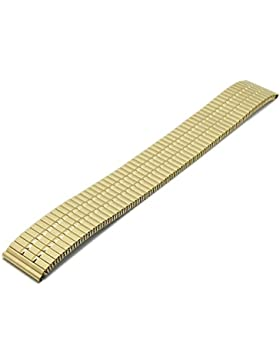 Meyhofer Uhrenarmband Sendai 18mm goldfarben Edelstahl-Zugband teilweise poliert MyCrkmb542/18mm/gold