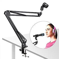 Lypumso Mikrofon Ständer/Mikrofonständer dauerhafte Rundfunk Studio Mikrofon Mic Aussetzung Boom Scissor Arm Ständer