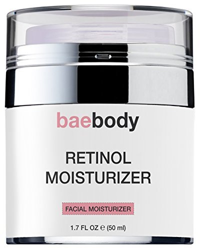 Baebody Retinol Moisturizer Cream for Face and Eye Area   With 2.5% Active Retinol  Hyaluronic Acid  Vitamin E. Anti Aging Formula Reduces Wrinkles  Fine Lines. Best Day and Night Cream 1.7 Fl. Oz. by Baebody