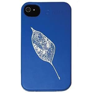 Nite Ize BIO-IP4-03G3 - Cover biologica per iPhone, motivo: foglia, colore: Blu