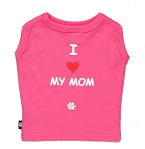 K9 I Love My Mom Dog T-shirt In Tin, Pink, Xtra Small