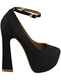 Unbekannt Kult Party Plateau High Heel Pumps Damenschuh V1258