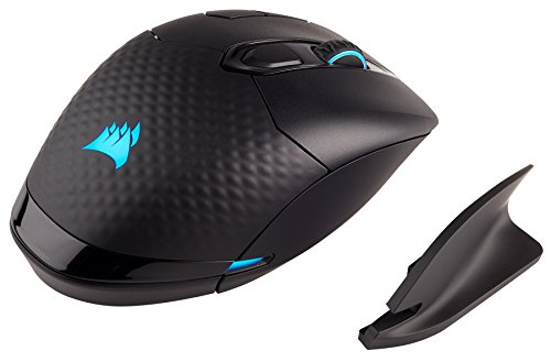 CORSAIR Dark Core Wireless Gaming Mouse DPI Optical Sensor Comfortable & Ergonomic Play Wired or Wireless Ohrstöpsel 5 Centimeters Schwarz (Black) 1 Wireless Sensor
