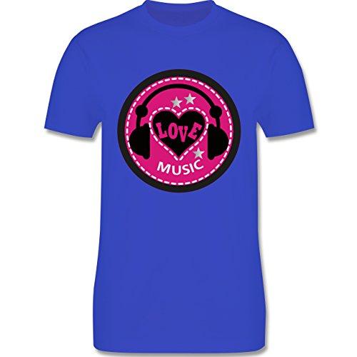 DJ - Discjockey - Love music - Herren Premium T-Shirt Royalblau