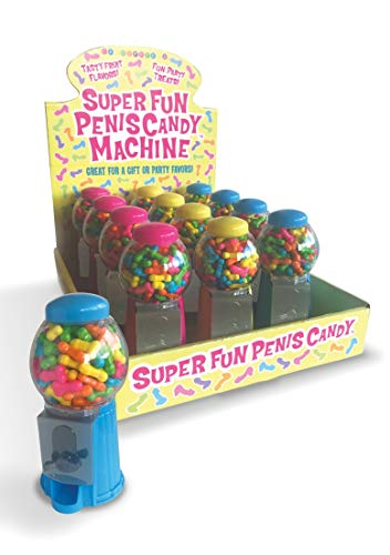 ions Little Genie Productions - Super Spaß Penis Kaugummiautomat - Display mit 12 Stk. 1er Pack(1 x 1 Stück) ()