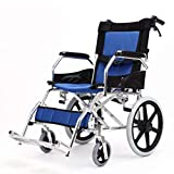 MYGB Transportrollstühle Rollstühle, Rollstühle Faltbar Leicht Selbstfahrend, Aluminium Wheelchairwith Handbremsen, Portable