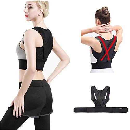 Wokee Haltungstrainer,Buckel Korrekturgürtel Erwachsener Rückenfixierungs Rücken Korrektur Anzug für Damen und Herren,Schulterschmerzen Rückenstütze (XL)