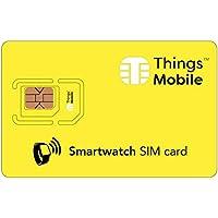 SIM Card für Smartwatch - GSM / 2G / 3G / 4G - ideal für werables, Smartwatch, Sportwatch, Tracker, tragbares Tracker, mit 10 Kreditkarten