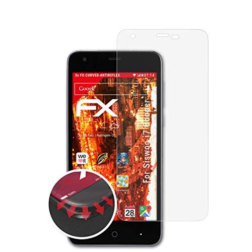 atFolix Schutzfolie passend für Siswoo i7 Cooper Folie, entspiegelnde & Flexible FX Bildschirmschutzfolie (3X)