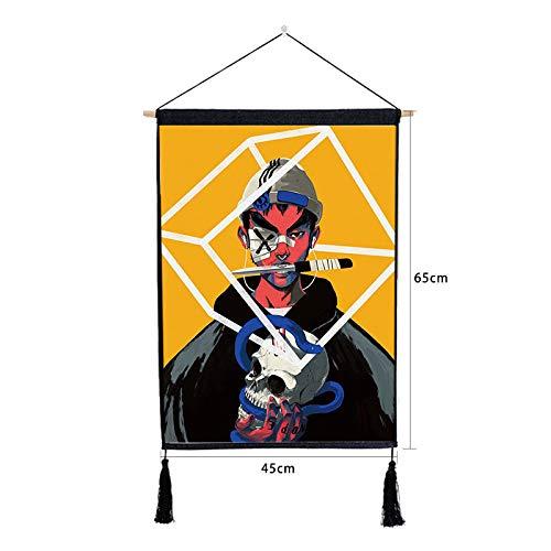 Cartoon malerei Wohnzimmer hängen Tuch Baumwolle leinen Kunst malerei L 46 * 65 cm