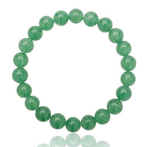 Unisex Perlen Armband echter Aventurin mit 8mm Grade AAA Perlen dehnbar one size fits all 16cm bis 21cm