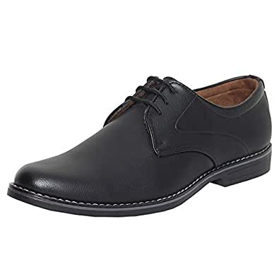 Azzaro Black Men's Black Synthetic Leather Formal Shoes - 6 UK