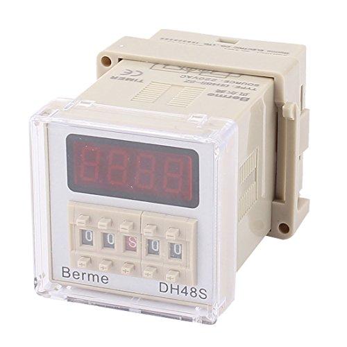 Sourcingmap a15063000ux0309220V AC PID Display Digital SSR Control Ausgang Temperatur Controller-Schwarz Ausgang Display