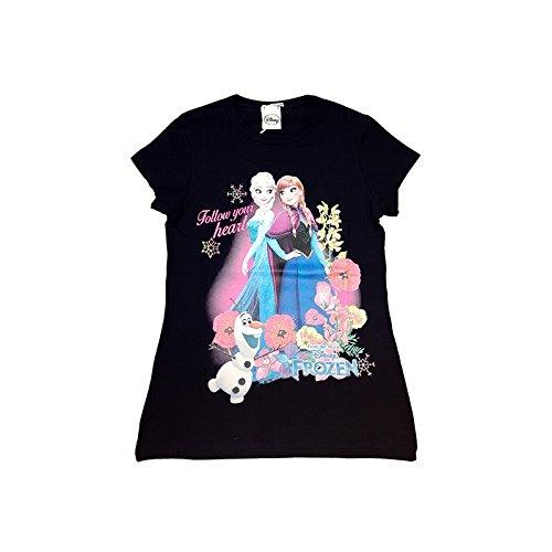 T shirt maglia maglietta cotone bielastico bimba bambina disney frozen blu - 4a