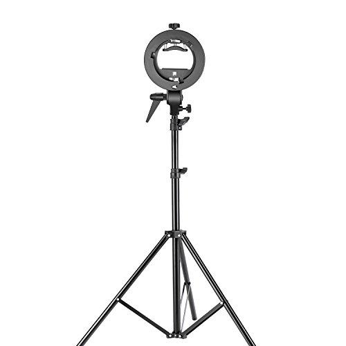 Neewer Dreibein, Stativ für Studio-Fotografie, S-Typ, Speedlite-Halterung mit Bowens-Halterung und 190Zentimeter verstellbar, Lampenständer für Blitzlicht-Vorsatz, Reflektor, Schirm Bowens Set