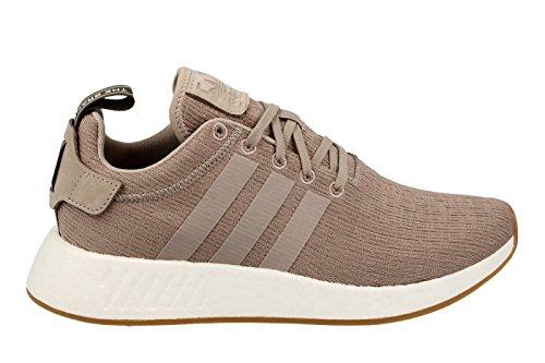 adidas NMD_r2, Chaussures de Gymnastique Homme Gris (Vapour Grey F16/vapour Grey F16/branch)